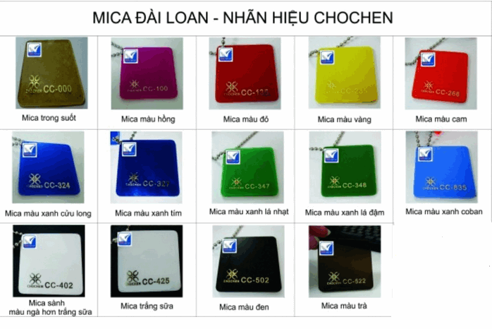 bang mau mica chochen dai loan